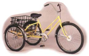 Worksman Adaptable Industrial Tricycle with Basket