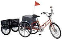 Worksman Adaptable Tricycle with Trailer
